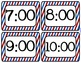 Patriotic OR Barber Shop Themed Schedule Cards {2 Styles +