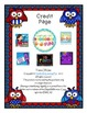 Patriotic Owl Number Bingo 0-20 Number Word Math Center Fun July 4th