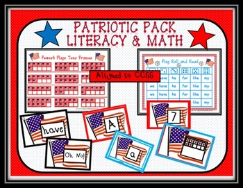 Patriotic Pack: Kindergarten Literacy and Math Bundle