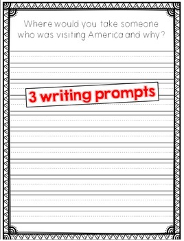 Patriotic Page Topper with Writing Prompts