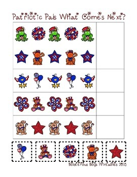 Patriotic Pals PreK Printable Sampler Learning Pack