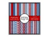 12x12 Digital Paper Set: Patriotic Collection {A Hughes Design}