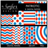 12x12 Digital Paper Set: Patriotic {A Hughes Design}