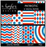 12x12 Digital Paper Set: Patriotic {A Hughes Design}