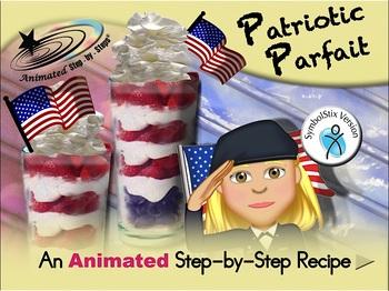 Patriotic Parfait - Animated Step-by-Step Recipe - SymbolStix