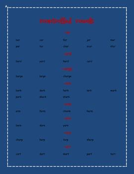 Patriotic Phonics Word List