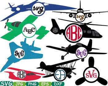 Patriotic Planes Clip art Airplane monogram war plane navy
