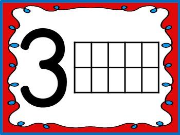Patriotic Play-Doh Number & 10 Frame Work Mats (Focus Numbers 0-20)