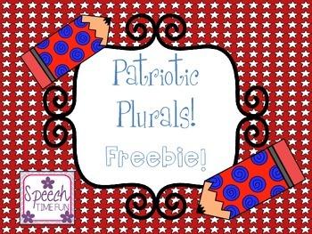 Patriotic Plurals FREEBIE