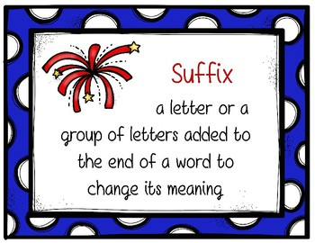 Patriotic Prefix and Suffix Posters