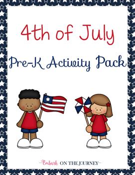 Patriotic Preschool Learning Pack