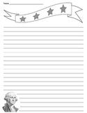 Patriotic - President - George Washington Lined Paper