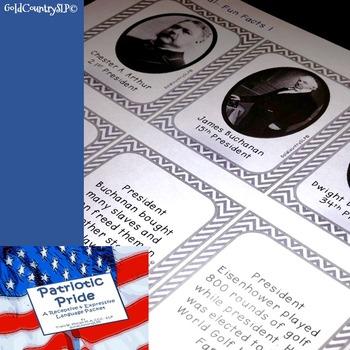 Patriotic Pride - A Receptive - Expressive Language Packet