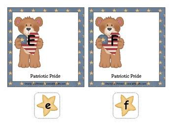 Patriotic Pride Alphabet Match Literacy Center