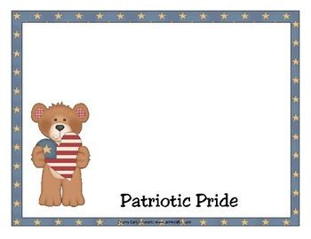 Patriotic Pride Number Order Math Center