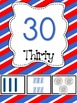 Patriotic Print Number Posters 1-20 and Counting by 10s and Ordinal Numbers
