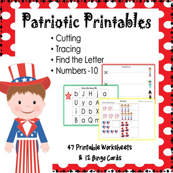 Patriotic Printables for 4th of July, Labor Day, Memorial Day, Veteran's Day