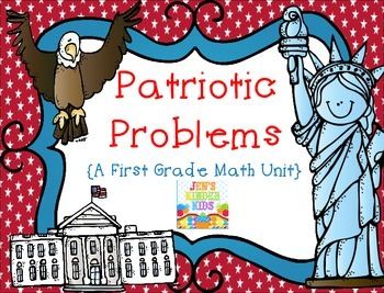 Patriotic Problems {a first grade math unit}