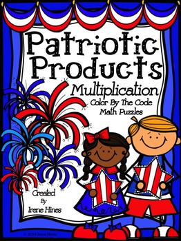 Multiplication: Patriotic Products ~ Color By The Code Mat