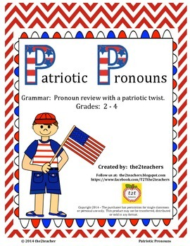 Patriotic Pronouns - Grammar Review with a Patriotic Twist - FREE