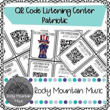 Patriotic QR Code Listening Center