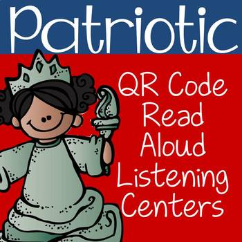 Patriotic QR Code Read Aloud Listening Centers