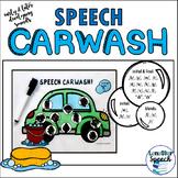 Speech Car Wash | Articulation Mat for Speech Therapy