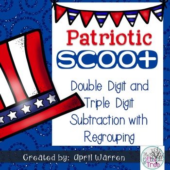 Patriotic Scoot-Double and Triple Digit Subtraction with r