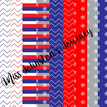 Patriotic Seller Kit {Papers, Buntings, Frames, Borders, Washi}