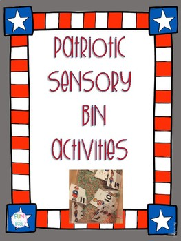 Patriotic Sensory Bin Activities for Preschool and Kindergarten