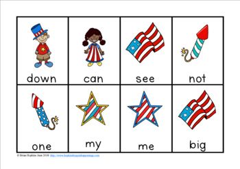 4th of July Sight Word Race