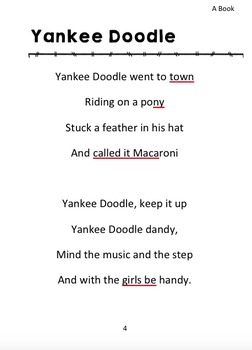 Patriotic Sing A Long Book SAMPLE: Yankee Doodle