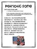 A list of Patriotic Songs