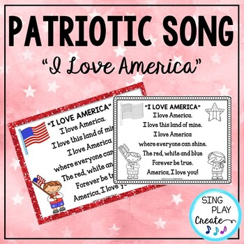 """Patriotic Song """"I Love America"""" Unison Video Sing-a-long"""