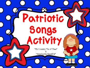 Patriotic Songs Activity
