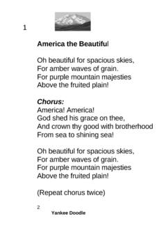Patriotic Songs Booklet