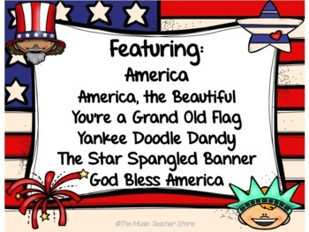 Patriotic PowerPoint Songs and Sing Along- Just in time for Memorial Day!