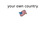 Patriotic Songs Vocabulary