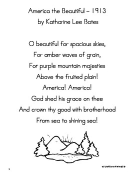 Patriotic Songs for First Grade