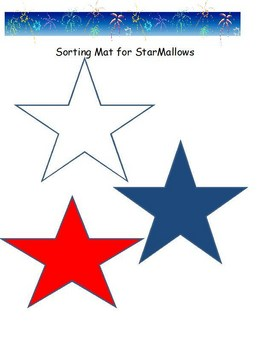 Patriotic Sorting Mat and Graph for 4th of July