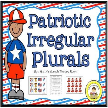 Patriotic Speech Therapy Irregular Plurals