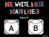 Bulletin Board Labels- Multi color patriotic