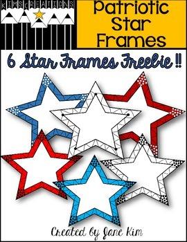 Patriotic Star Frames FREEBIE!