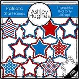 FREE Patriotic Star Frames Clipart {A Hughes Design}