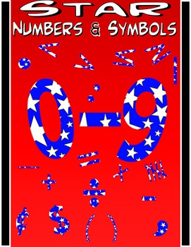 Math Numbers Clipart - Stars