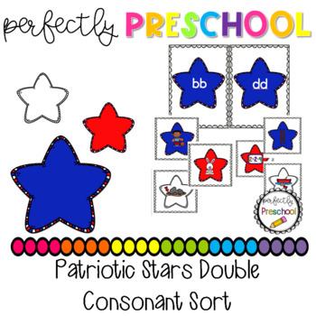 Patriotic Stars Double Consonant Sort