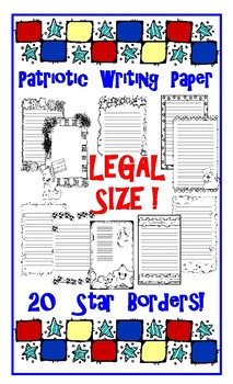 Patriotic Stars Lined Writing Paper