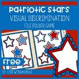 Patriotic Stars Visual Discrimination File Folder Game