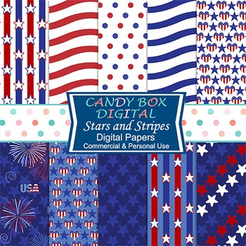 Patriotic Stars and Stripes Digital Papers