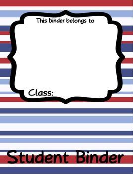 Patriotic Student Binder Agenda Printable - EDITABLE